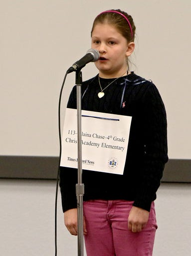 Alaina Chase, a fourth-grader at Christ Academy Elementary,