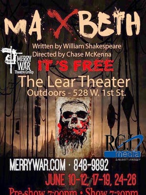 "The Merry War Theatre Group is putting on ""Maxbeth,"" a theatrical fusion of Macbeth and ""Mad Max"" from June 10-26."