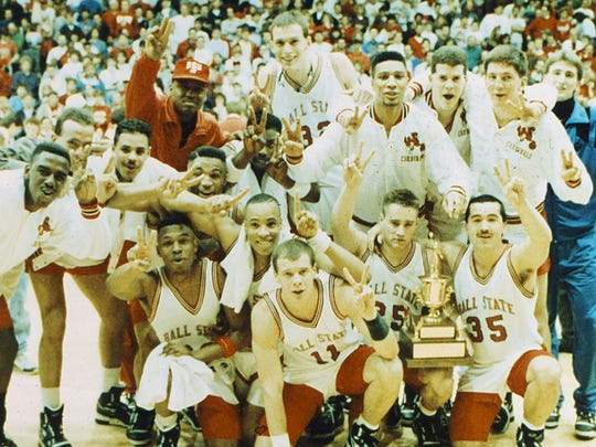 Ball State wins the 1990 Mid-American Conference Tournament.