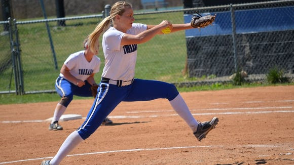 Polk County graduate Jamie Hrobak is a pitcher for