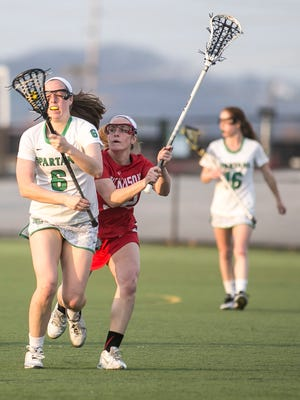 York College's Meghan Fox (6) is one of a number of key returners for the Spartans for the 2018 season. YORK DISPATCH FILE PHOTO
