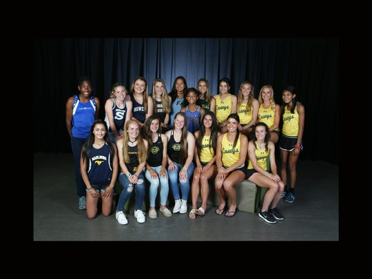 All-Shore girls track and field team photo shoot in