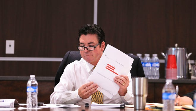 John Schnatter, board member at the UofL Foundation,  during the first meeting since an audit blasted the organization.