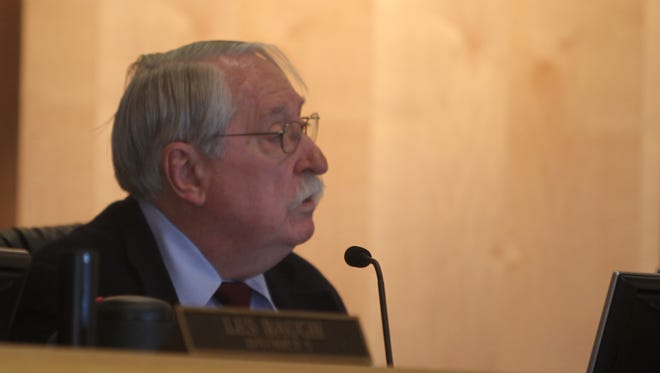 """Shasta County Supervisor David Kehoe speaks Tuesday during a discussion of whether Shasta County should declare itself """"no sanctuary"""" for those in the country illegally."""