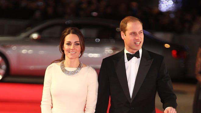 Kate and Will on Dec. 5, 2013 in London.