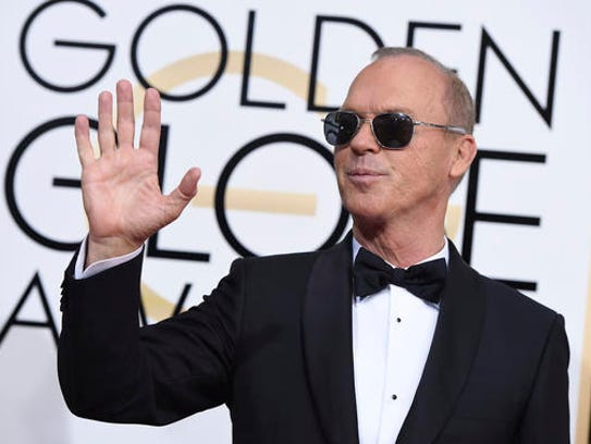 Michael Keaton arrives at the 74th annual Golden Globe
