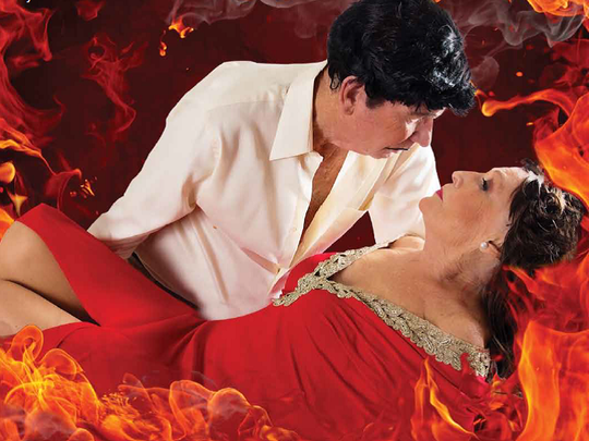 """Paul and Kathy DeBeers inspired by """"Gone with the Wind"""" for the 2015 calendar"""