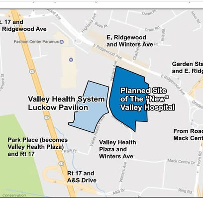 This map shows the location of the proposed new Valley