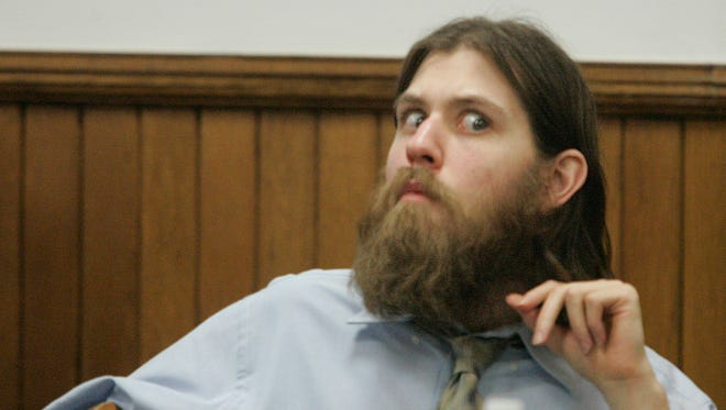 William Morva is pictured as he listens to court proceedings in Washington County Circuit Court in Abingdon, Va.