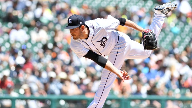 Tigers starter Drew VerHagen allowed seven runs in 3 2/3 innings, including three home runs, on Monday against the New York Yankees.