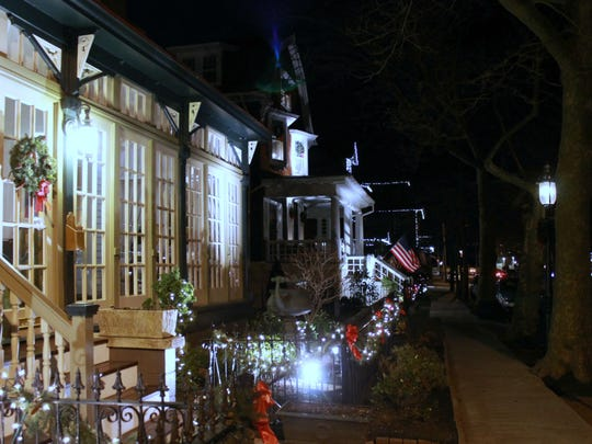 Trolley rides show off Cape May's holiday glow from the warmth of a traditional conveyance.