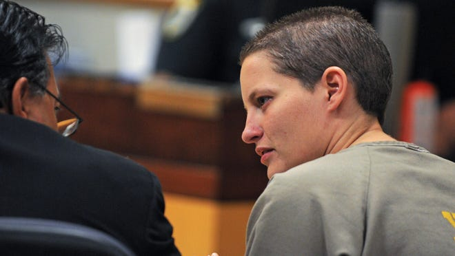 Michelle Simkins, a Cocoa Beach woman accused of a New Year's eve hit-and-run accident that injured 12 year old Thomas Gregory, was in the Viera courtroom of Judge Charles Roberts Monday morning.