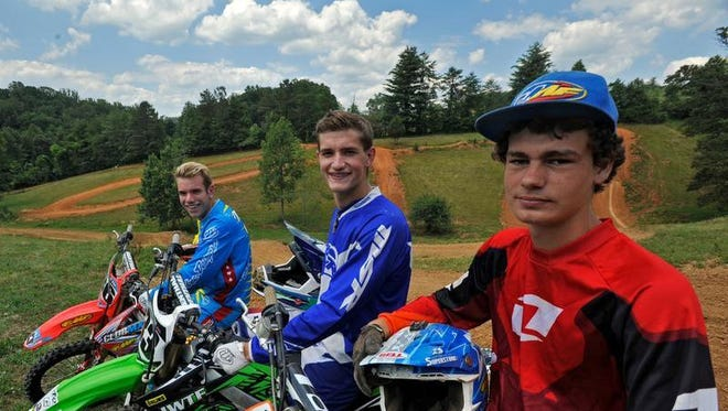 From left to right, Kyle McElrath, Keaton Hinson and Caleb Carter.