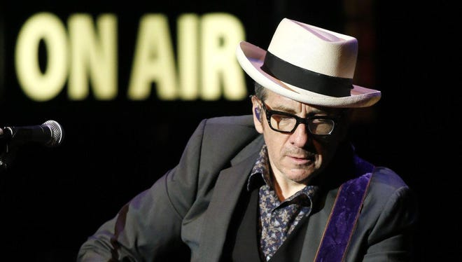 Elvis Costello performs at The Grand in Wilmington Friday night.