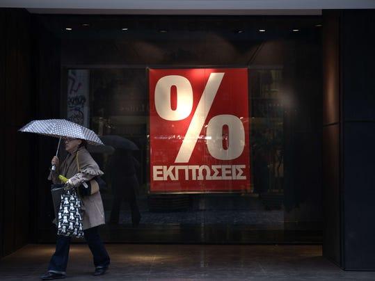 GREECE-FINANCE-ECONOMY-SALES