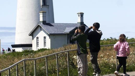 The lighthouse. Yaquina Head Outstanding Natural Area is a nearly unique piece of land, brimming with marine life and extending a mile into the open sea north of Newport on Wednesday, July 27, 2011.