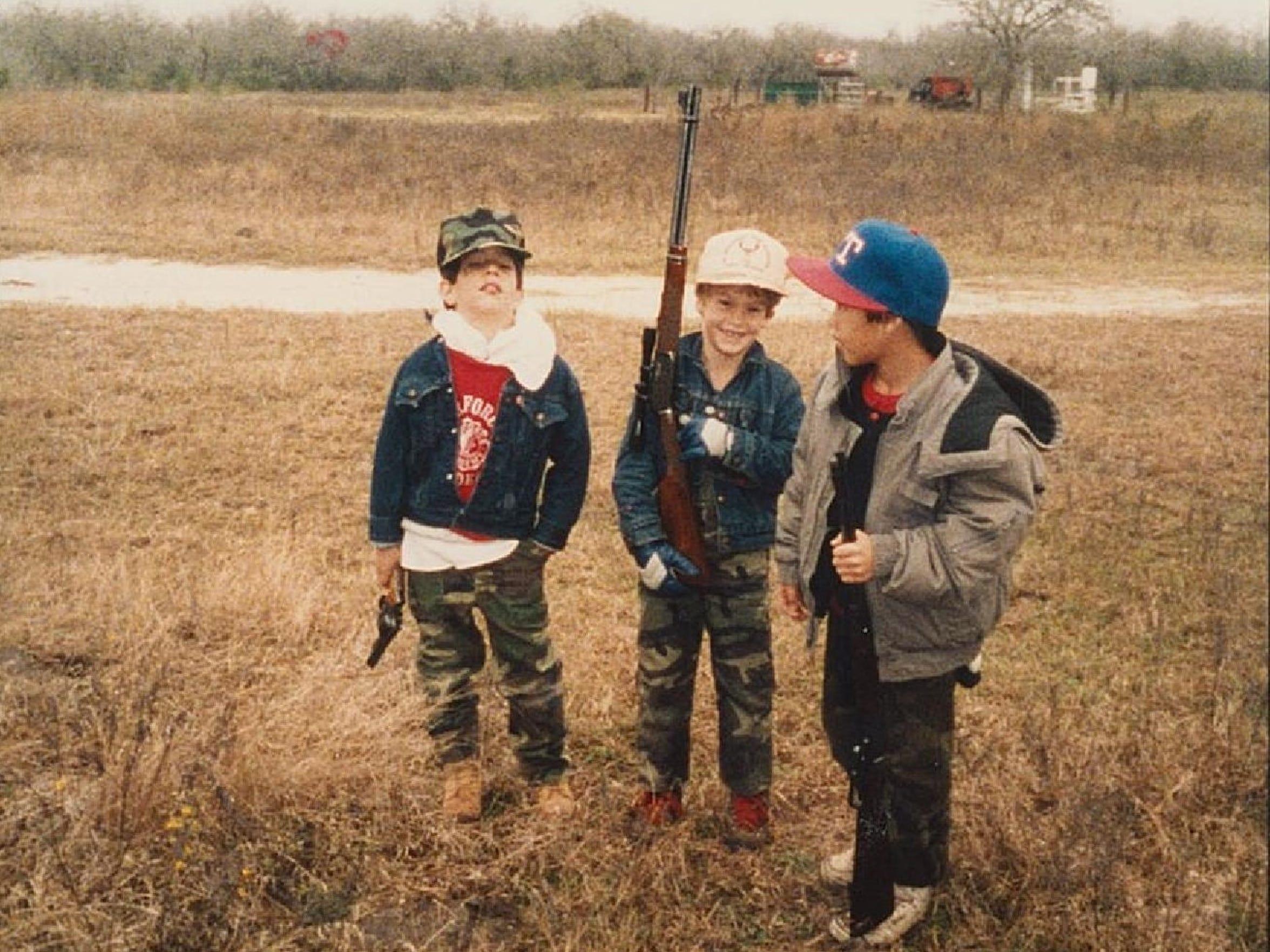 Left to right, Rudy Jaramillo's son Justin Jaramillo,