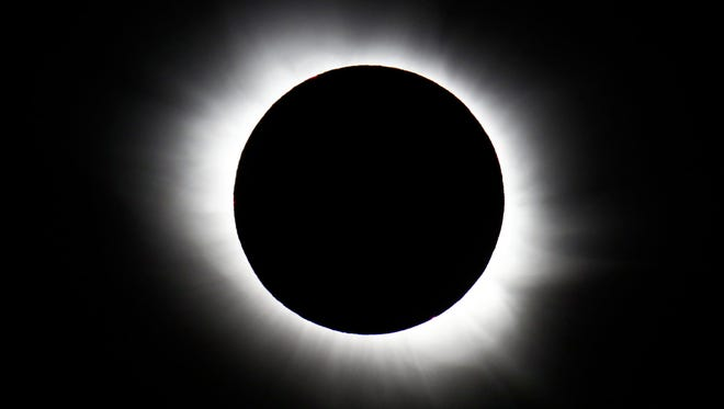 A total solar eclipse is seen from Svalbard, Norway, on March 20, 2015.