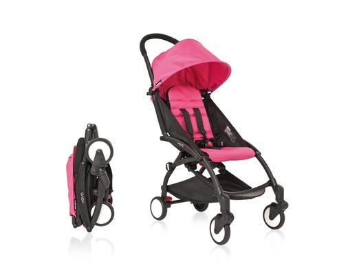 A luxury version of the classic umbrella strollers, the Babyzen YOYO comes with a padded seat, storage, sun canopy and five-point harness.