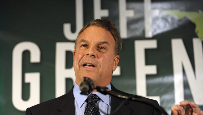 Jeff Greene addresses a news conference on Aug. 24, 2010, in West Palm Beach, Fla., while running in the Democratic Senate primary election. He lost to Rep. Kendrick Meek, D-Fla.
