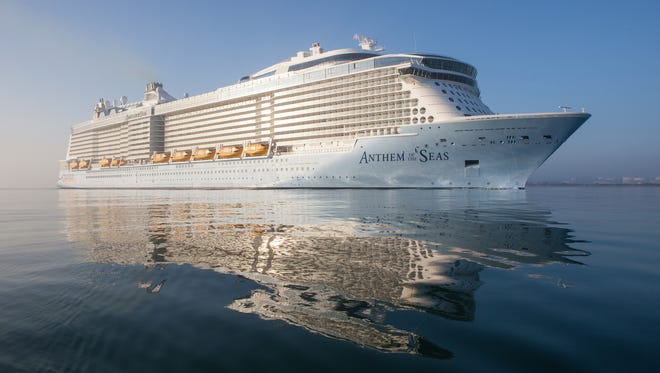 Royal Caribbean's Anthem of the Seas was christened on April 20, 2015.