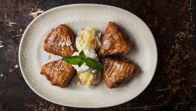 The bananas foster beignets are one of the special summer dishes at Z'Tejas.