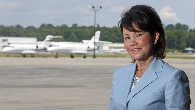 Millie H. Becker, the CEO of Skyqueen Enterprises located at Westchester County Airport, photographed July 17, 2015.