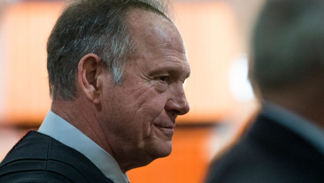 Alabama Chief Justice Roy Moore before Governor Robert Bentley gives his State of the State Address at the State Capitol Building in Montgomery, Ala. on Tuesday evening February 2, 2016.