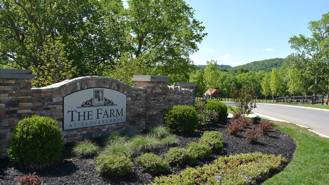 At The Farm at Clovercroft in Nolensville, only half of the land in the 171-acre subdivision will be developed. The rest of the site, which once was a dairy farm that produced milk and cheese for local families, will be left as woodland and open space.