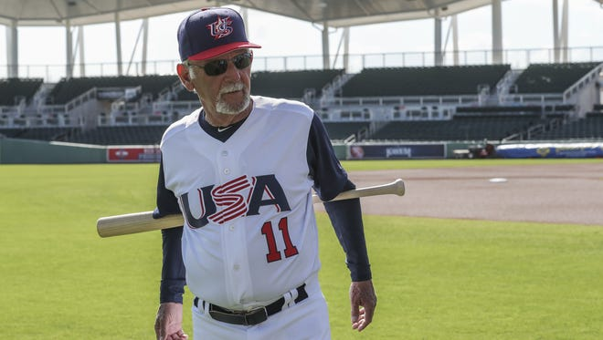 Jim Leyland is the manager for Team USA in the WBC. FTP Drop]