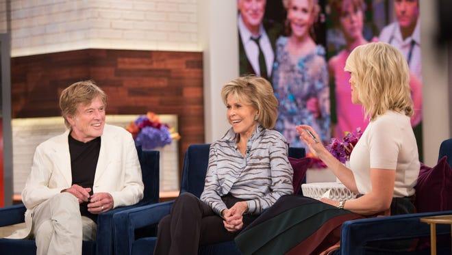 Hollywood legends Robert Redford, left, and Jane Fonda talk to Megyn Kelly on NBC's 'Megyn Kelly TODAY.'