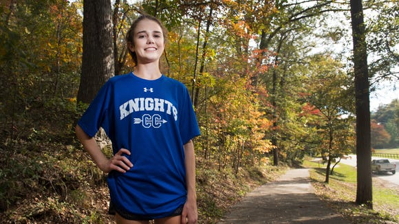 Ava Dobson, who played soccer through the ninth grade, never ran in a competitive race until winning the Fight Like Wyatt Invitational at Woodmont Aug. 26.