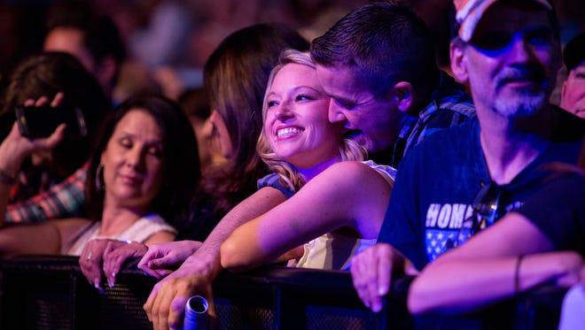 Robert Monfred and Michelle Miller (center) wait for performances at the Birds Nest in Scottsdale Feb. 2, 2016.