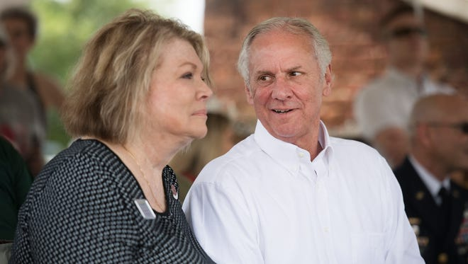 Governor Henry McMaster attends the Greenville Scottish Games at Furman University on Saturday, May 26, 2018.