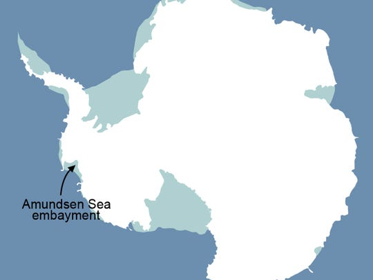 The glaciers in the Amundsen Sea Embayment in West