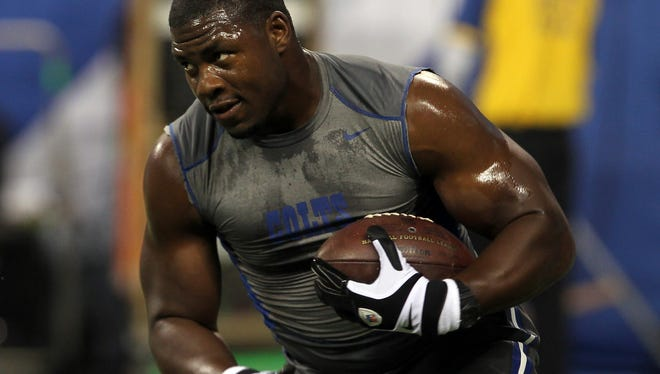 Indianapolis Colts tight end Dwayne Allen fought through his emotions to share his story growing up watching his mother be a victim of domestic violence.