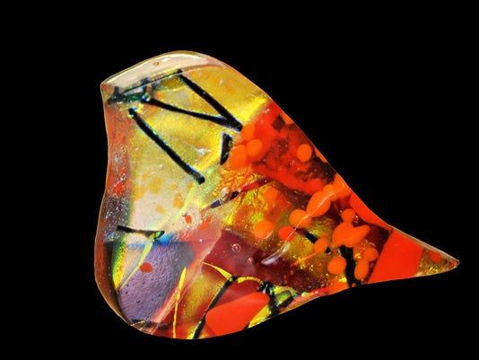 bird cutout spirit house glass