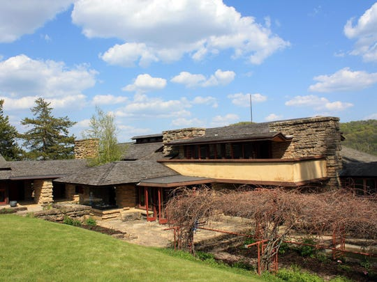 "Wisconsin architect Frank Lloyd Wright built Taliesin, which means ""shining brow"" in Welsh, just below the brow of a hill in the rolling countryside outside Spring Green. Tours are offered May through October and often sell out in advance."