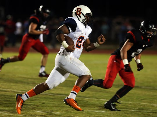 Blackman running back Charlie Davidson averages 10.2 yards a carry this season for the Blaze.