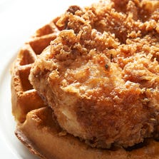Chicken & waffles are being tested on the Chick-fil-a menu in select locations. (The dish pictured here is not from Chick-fil-a.)