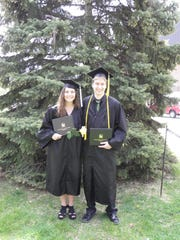 Sherry McMahon and Connor Madison started kindergarten together 17 years ago and graduated from UW-Oshkosh together last Saturday.