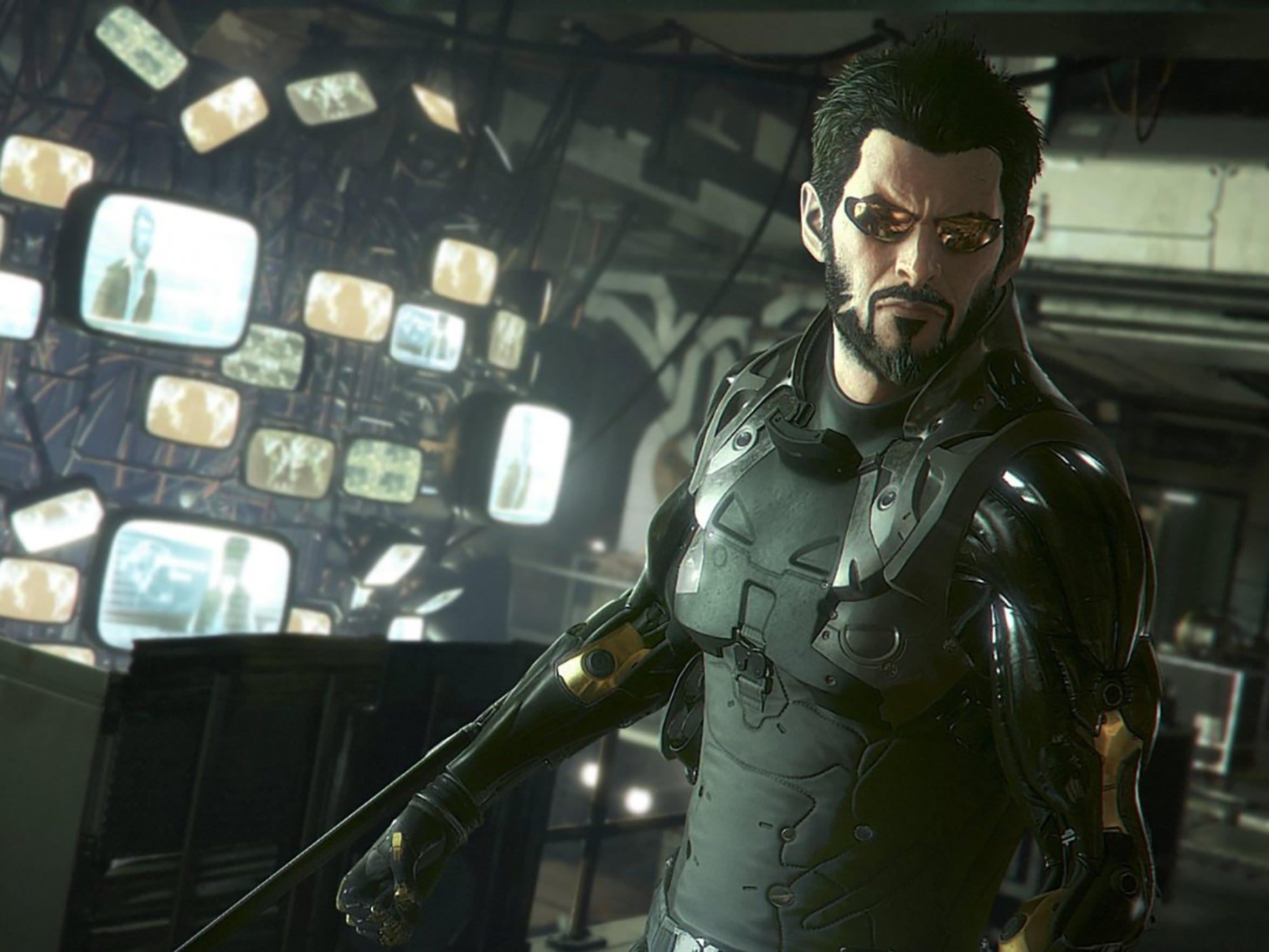"""Adam Jensen is all out of gum in """"Deus Ex: Mankind"""