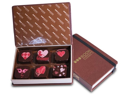 Chocolate box from Sook in Ridgewood for Valentine's Day