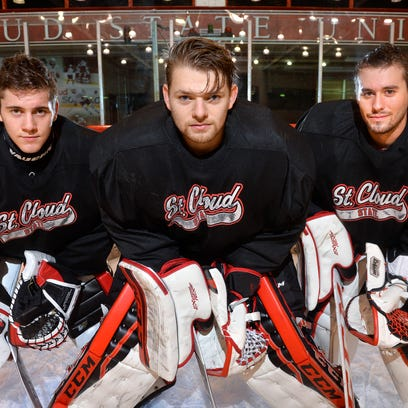 SCSU men's hockey: 3 Huskies are battling for goal time