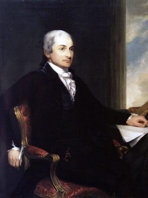 Copy of a portrait of John Jay by artist Gilbert Stuart.
