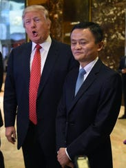 President-elect Donald Trump with Jack Ma, founder