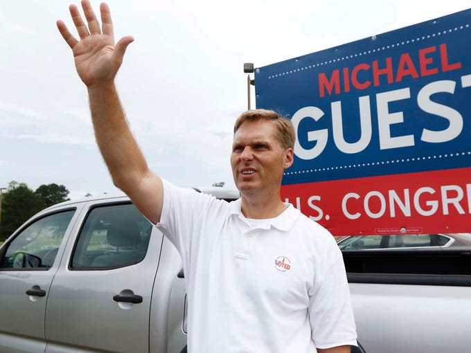 Republican District Attorney Michael Guest, a candidate