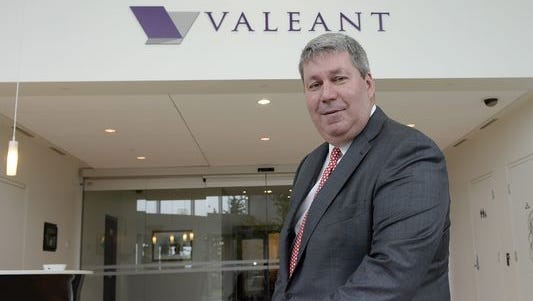 File photo taken in 2015 shows Valeant Pharmaceuticals International CEO J. Michael Pearson at the company's annual general meeting in Montreal.