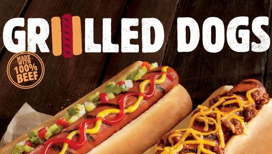 Burger King will roll out two kinds of hot dogs to its menu starting Feb. 23, the first time the chain has offered franks. It will become the biggest restaurant seller of hot dogs in the country with the launch.