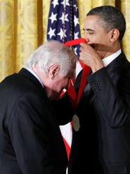 President Obama presents a National Humanities Medal